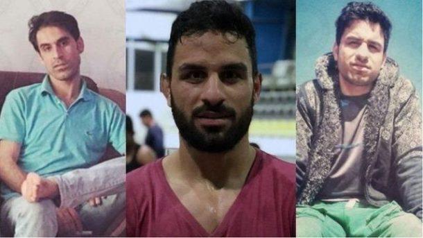 برادران افکاری از راست حبیب (محکوم به ۲۷ سال زندان) ، نوید (دو بار اعدام) و وحید افکاری (محکوم به ۵۴ سال زندان)؛ هر سه آنها به ۷۴ ضربه شلاق هم محکوم شدهاند