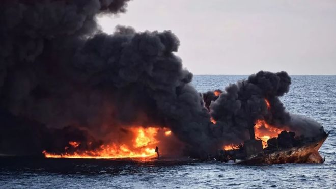 غرق شدن کشتی نفتکش سانچی و مرگ تمام سرنشینان