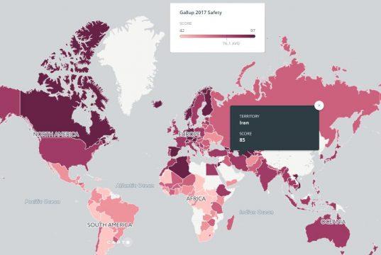 فهرست امن ترین کشورهای جهان