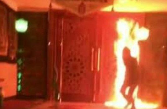 فیلم حمله به مسجد جوادالائمه تهران با مواد آتشزا