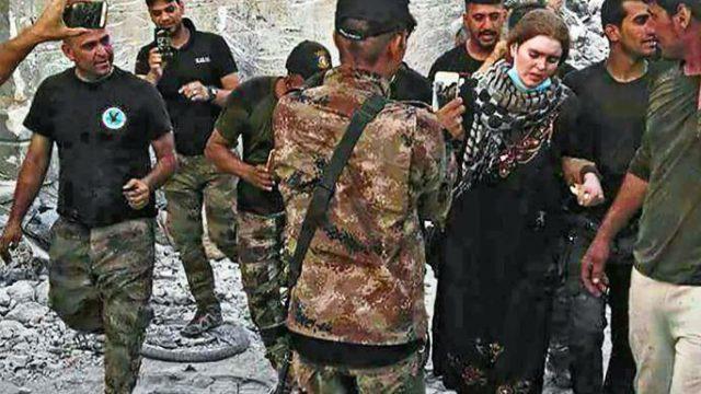 ویدئویی تکان دهنده از دستگیری دختر جوان توسط داعش